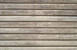 Gemalte raue rustikale alte Beige des hölzernen der Beschaffenheit vollen Musters des Rahmens horizontalen Lizenzfreie Stockfotografie