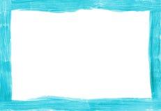 Gemalte rechteckige Grenze des Türkises freihändig Stockbilder