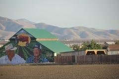 Gemalte Scheune in Kalifornien-Ackerland Lizenzfreies Stockbild