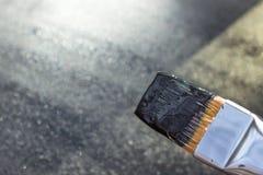 Gemalte schwarze Farbenoberfläche Lizenzfreies Stockbild