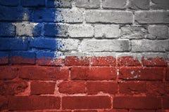 Gemalte Staatsflagge des Paprikas auf einer Backsteinmauer Stockbilder