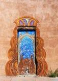 Gemalte Tür Santa Fe New Mexiko Lizenzfreie Stockfotos