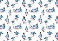 Gemalte Tauben in den verschiedenen Haltungen Lizenzfreie Stockfotos