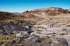 Gemalte Wüste lizenzfreie stockfotos