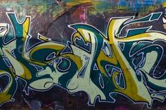Gemalte Wand in der Stadt Stockbilder
