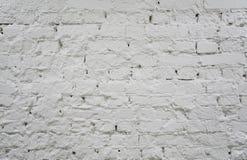 Gemalte weiße Wand 2 des Ziegelsteines Lizenzfreie Stockfotos