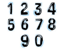 Gemalte Zahlen Stockbilder
