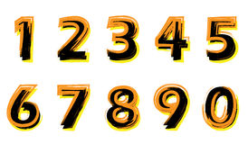 Gemalte Zahlen Lizenzfreie Stockbilder