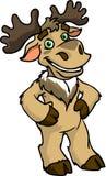 Gemalte Zeichentrickfilm-Figur - Ren auf weißem Hintergrund Lizenzfreie Stockfotografie