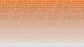 Gemalter Backsteinmauerhintergrund erleichtert zum Boden lizenzfreie abbildung