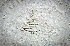 Gemalter Baum auf einer weißen Beschaffenheit Stockfoto