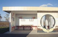 Gemalter Busbahnhof Lizenzfreie Stockfotografie