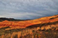 Gemalter Hügelsonnenuntergang, Mitchell Oregon Lizenzfreies Stockfoto
