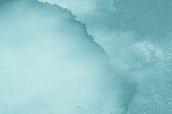 Gemalter Hintergrund des Aquarells Blau Stockfotografie