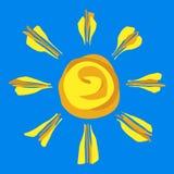 Gemalter Sun Lizenzfreie Stockfotos