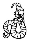 Gemalter verrückter Wurm Stockfotografie