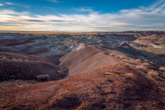 Gemalter Wüsten-Sonnenuntergang Lizenzfreies Stockbild