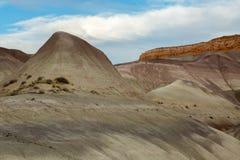 Gemalter Wüsten-Sonnenuntergang Lizenzfreie Stockbilder