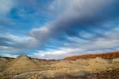 Gemalter Wüsten-Sonnenuntergang Stockfoto