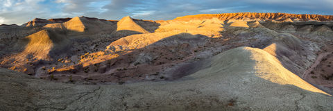 Gemalter Wüsten-Sonnenuntergang Lizenzfreies Stockfoto