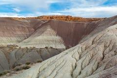 Gemalter Wüsten-Sonnenuntergang Lizenzfreie Stockfotografie