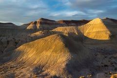 Gemalter Wüsten-Sonnenuntergang Stockbild