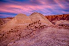 Gemalter Wüsten-Sonnenuntergang Lizenzfreie Stockfotos