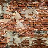 Gemaltes altes zackiges mit Stücken der Gipsbacksteinmauer vektor abbildung
