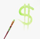 Gemaltes Dollar-Zeichen Stockfotografie