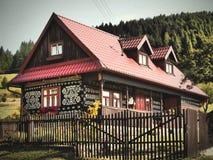 Gemaltes Dorf von CICMANY - SLOWAKEI lizenzfreie stockbilder