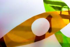 Gemaltes Glas Handgemachtes Arbeitsideal für abstrakte Hintergründe Stockbild