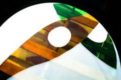 Gemaltes Glas Handgemachtes Arbeitsideal für abstrakte Hintergründe Lizenzfreies Stockbild