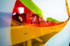 Gemaltes Glas Handgemachtes Arbeitsideal für abstrakte Hintergründe Lizenzfreies Stockfoto