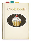 Gemaltes Kochbuch mit Bookmarks Stockbild