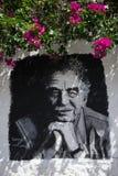 Gemaltes Porträt von Marquez in Kolumbien Stockbilder