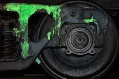 Gemaltes schwarzes Rad einer Serie Lizenzfreie Stockfotos