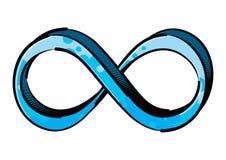 Gemaltes Zeichen endlosen Mobius-Streifens stockfotografie