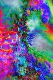 Gemanipuleerde, abstracte micrograaf van bracteeën van een madeliefje stock foto's