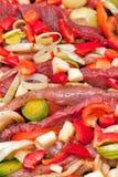 Gemarineerd vlees Stock Foto