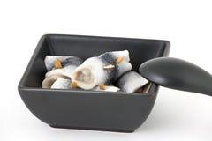 Gemarineerde haringen stock afbeeldingen