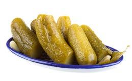 Gemarineerde komkommer stock afbeeldingen