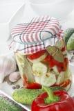 Gemarineerde komkommers royalty-vrije stock afbeeldingen