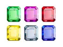 Gemas coloridas Fotografia de Stock Royalty Free