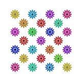Gemas coloridas da flor Imagem de Stock