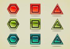 Gemas coloridas diferentes para criar jogos de vídeo Ilustração Stock
