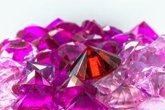 gemas coloridas no fundo branco Imagem de Stock Royalty Free