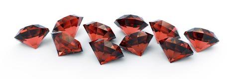 Gemas de rubíes hermosas Imagen de archivo libre de regalías