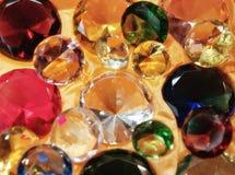 Gemas de vidro Fotografia de Stock Royalty Free