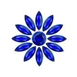 Gemas del azul de la flor Fotos de archivo libres de regalías