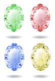 Gemas em cores pastel diferentes Fotografia de Stock Royalty Free